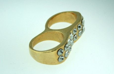 Double Bling Ring - Gold Or Silver
