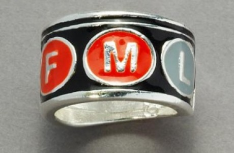 NYC Subway Sign Ring FML