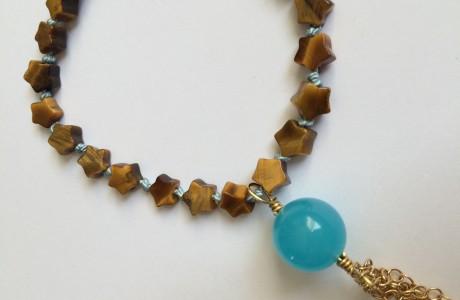 Fall Trend Star Bead Tassel Bracelet