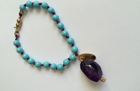Fall Trend Turquoise Tassel Bracelet