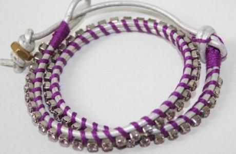 silver leather wrap bracelet 2
