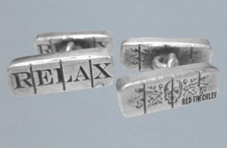 Xanax Pill Cuff Links In Sterling Silver
